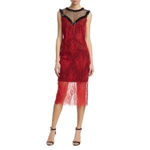Diane Von Furstenberg Beaded Lace Overlay Dress
